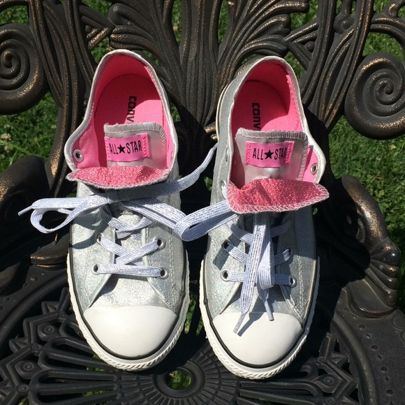 All Shoes Star Sparkle Converse Glitter Silver Poshmark Sneakers xBnww